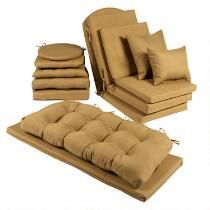 Solid Brown Indoor/Outdoor Chair Cushions Collection
