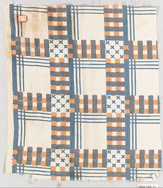 Textile sample. Wiener Werkstätte Designer: Unknown Designer Date: 1910–28  Medium: Cotton