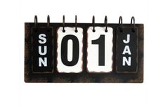 Metal Desk Calendar Vintage Antique Office Decor Retro Flip Rustic Distressed