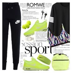 """Be Sportif ..."" by fattie-zara ❤ liked on Polyvore featuring NIKE, Only Play, Tzumi, Michael Kors and Victoria's Secret"