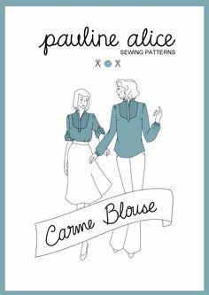 Pour une petite blouse : le modèle Carme de Pauline Alice = 8€