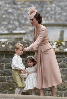 Kate comforted her son following his mini meltdown as he little sister grimaced at her bro...