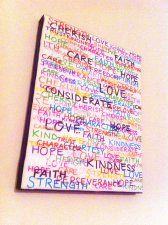Inspirational Colorful Canvas Word Quote... craftisart.com