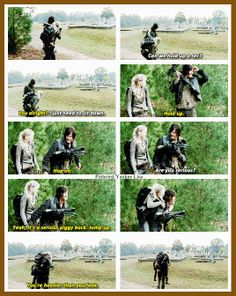 Daryl Dixon - Norman Reedus and Beth Greene - Emily Kinney  - The Walking Dead