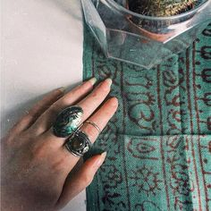 Lovely pic from @roxancolex wear of our rings and our Moss Mantra Scarf ॐ www.ohmboho.com ॐ