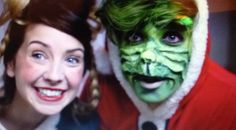 Cindy Lou and the Grinch...aka Zoe and Joe Sugg. This was like the best video ever.