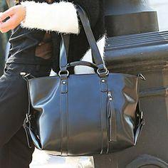 Trendy Black Rivets and PU Leather Design Shoulder Bag For Women, BLACK in Shoulder Bags   DressLily.com