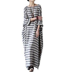 "Yesno JG1 Women 52"" Long Maxi Loose Striped Dress Arab Ca... https://www.amazon.com/dp/B01M6V3FIX/ref=cm_sw_r_pi_dp_x_.Gt6ybWT7MNKN"