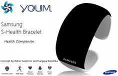 Samsung bracelet Monitors heart rate, blood pressure and glucose monitor