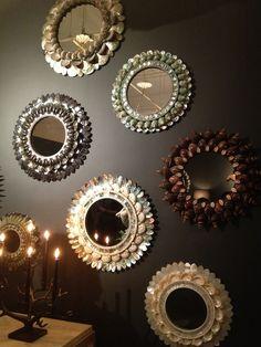 chic shell mirrors by thomas boog