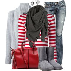 """""""Red & Grey"""" by wishlist123 on Polyvore"""