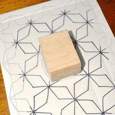 foam block printing tutorial by flowerpress, via Flickr