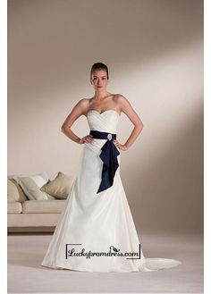 Beautiful+Elegant+Exquisite+A-line+Sweetheart+Taffeta+Wedding+Dress+In+Great+Handwork