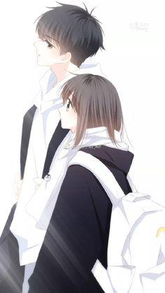 ideas for anime art love couples Anime Cupples, Anime Chibi, Kawaii Anime, Anime Guys, Romantic Anime Couples, Anime Couples Drawings, Anime Couples Manga, Anime Couples Cuddling, Manga Couple