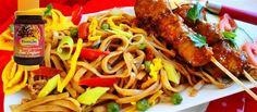 Surinaams eten – Bami Trafasie met Saté (de lekkerste Surinaamse bami met Javaanse sate)