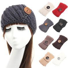 C$ 3.14 - 3.19 Pas cher Brand New 2016 Women Knit Crochet Button Headband Hair Accessory Winter Ear Warmers Turban Hairband Hair Wrap High Quality, Acheter  Cheveux Accessoires de qualité directement des fournisseurs de Chine:       plus D'escompte Marchandises > >   plus Produits de Soins de Santé > >       Hot 12 Pcs Professio