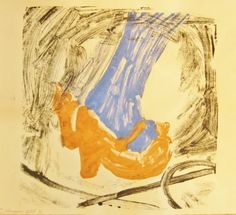After the Show - monotype print, inks on paper