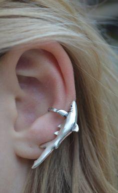 Ear Cuff  Shark  Sterling Silver  SINGLE SIDE by ChapmanJewelry, $48.00
