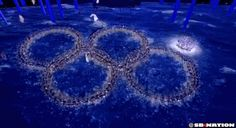 During Closing Ceremony, Russia poked fun at its Opening Ceremony gaffe, in which one of the five Olympic rings failed to form, leaving four rings and a snowflake. On Sunday night, a group of dancers wearing bright, glittery outfits converged to form four Olympic rings. But, just like 16 nights ago, the fifth ring didn't form. After holding the gag for the perfect amount of time, the dancers quickly burst from their pack and completed, finally, the fifth Olympic ring.