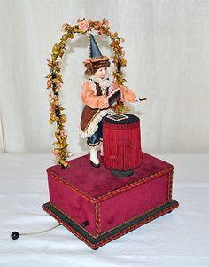 "Musical ""Magician"" Automaton Music Box French Swiss ""Phantom of The Opera"" Magic | eBay"