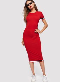Form 2019Dresses In Striped Dress Fitting Trim iuOTXwZPk