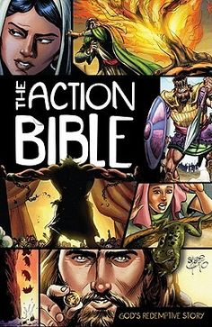 """[""""The Action Bible<\/i> presents 215 fast-paced narratives in chronological order, making it easier to follow the Bible's historical flow and reinforcing the build-up to its thrilling climax. The stories in The Action Bible<\/i> communicate clearly and forcefully to contemporary readers. This compelling blend of clear writing plus dramatic imagery offers an appeal that crosses all age boundaries. Internationally recognized artist Sergio Cariello has created attention-holding ill..."""
