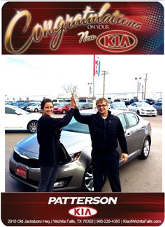 Congratulations to Alexis Majewski on her New 2013 Kia Optima! - From Brandon Warton at Patterson Kia!