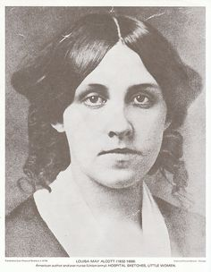 "Louisa May Alcott: author of many fictional stories, though she is best known for ""Little Women"". 1832-1888"