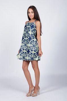Robe bleue, Cute, robe décontractée, Aline robe, robe imprimée Tribal, robe africaine, robe à bretelles par COLUFashion sur Etsy https://www.etsy.com/fr/listing/211531030/robe-bleue-cute-robe-decontractee-aline