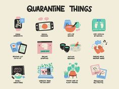 Quarantine Things by ✨ Lilla Bardenova ✨apple watch baking cute hobbies home illustration matcha nintendo switch plants procreate reading stickers vector Vie Motivation, Self Care Activities, Self Improvement Tips, Self Care Routine, Show And Tell, Take Care Of Yourself, Self Help, Self Love, Coaching