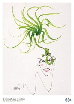 Always in Fashion poster by Philip Treacy for Earth Hour 2014, Do The Green Thing