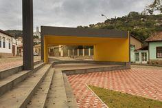 Concha acústica para apresentações na cidade de Dom Silvério.
