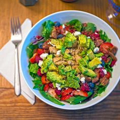 Summer Berry Chicken Salad [OC] #food #foodporn #recipe #cooking #recipes #foodie #healthy #cook #health #yummy #delicious