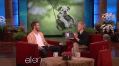 Unfortunately, Ellen's mission failed and Chris laughed instead of crying. | Chris Pine Is A Total Softie