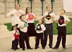 Superhero family photo idea from www. superhero stuff.com