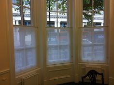 Bottom up roller blinds - an alternative to cafe shutters?