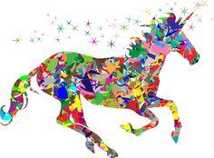 Clipart - Modern Art Magical Unicorn