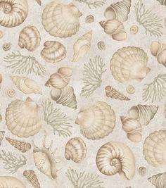 Susan Winget Premium Quilt Print-Costal Patterns Shells, , hi-res