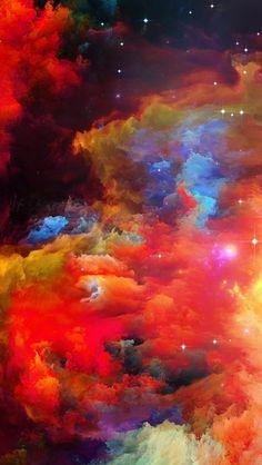 colourful clouds, nature iphone wallpaper, lots of stars, red clouds Beste Iphone Wallpaper, Nature Iphone Wallpaper, Spring Wallpaper, Wallpaper Iphone Disney, Colorful Wallpaper, Beautiful Drawings, Cool Drawings, New York View, Mandala Art