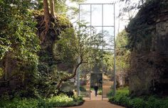 MARIELE NEUDECKER'S ''FROM HERE TO THERE IS NOT THAT FAR'' INSTALLATION AT BELSAY HALL, NEAR NEWCASTLE, PART OF ENGLISH HERITAGE'S EXTRAORDI...