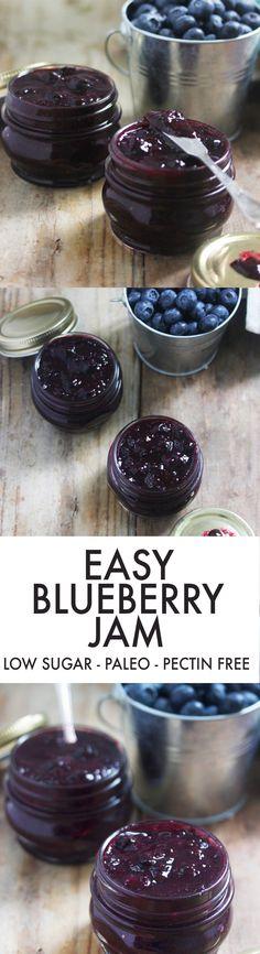 Easy Blueberry Jam {Low-sugar, pectin-free} | Lexi's Clean Kitchen