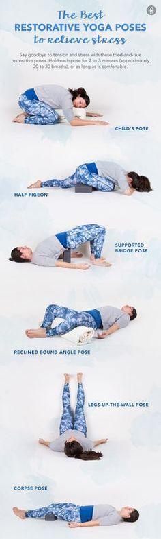 The Best Restorative Yoga Poses #yoga