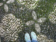 chinese river rock path by betsy., via Flickr