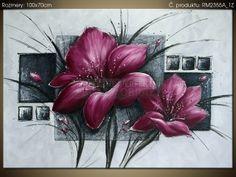 Ručne maľovaný obraz Nádherná magnólia 100x70cm RM2355A_1Z
