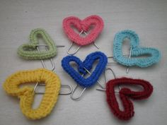Crocheted Paperclip Hearts
