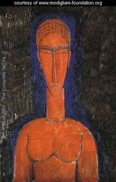 Modigliani - Le buste rouge (Cariatide)