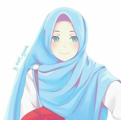 Read 2 from the story Hijabers fanart by RefinaAnnasah with reads. Blonde Anime Girl, Anime Art Girl, Manga Art, Cute Cartoon Girl, Cartoon Art, Anime Neko, Kawaii Anime, Muslim Images, Hijab Drawing