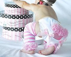 Pink Chiffon Ruffle Diaper Cover, Cupcake Bloomers, Pink Bows, Eyelet Ruffles, BABY GIRL Bloomers, 1st Birthday, Toddler, Photo Prop on Etsy, $12.00