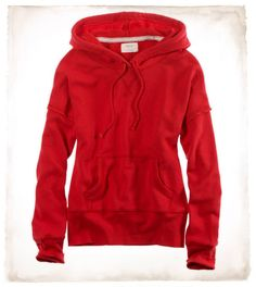 AERIE FRENCH TERRY POPOVER HOODIE  STYLE: 2496-5351 | COLOR: 815  $39.50