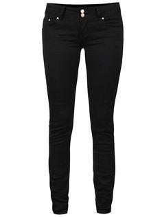 Černé dámské džíny s nízkým pasem mírně elastické Haily´s 32128c17c9